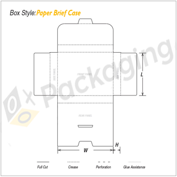 Custom Paper Brief Case Packaging Boxes