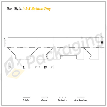 Custom 1-2-3 Bottom Tray Packaging Boxes