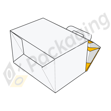 Custom Gable Boxes Auto Bottom Packaging Boxes