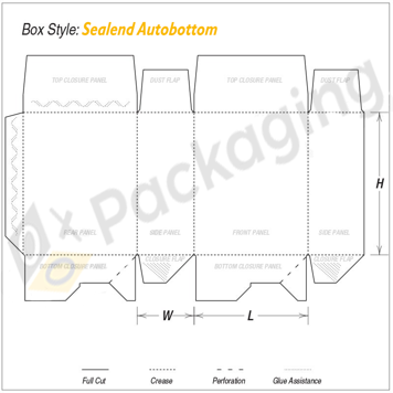 Custom Seal End Auto Bottom Packaging Boxes