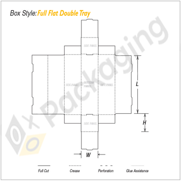 Custom Full Flat Double Tray Packaging Boxes