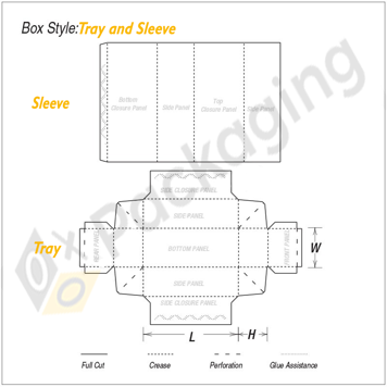 Custom Tray and Sleeve Packaging Boxes