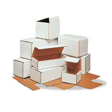 Custom Printed White Corrugated Packaging Boxes