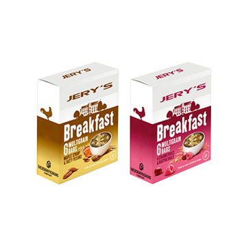 breakfast cereal boxes