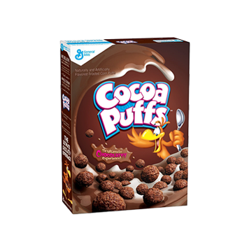 chocolate cereal box