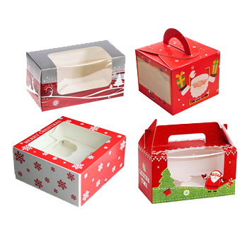 Custom Christmas Cake Boxes