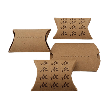 custom kraft paper pillow boxes
