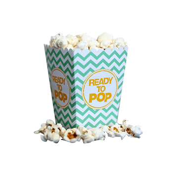 Custom Printed Popcorn Packaging Boxes