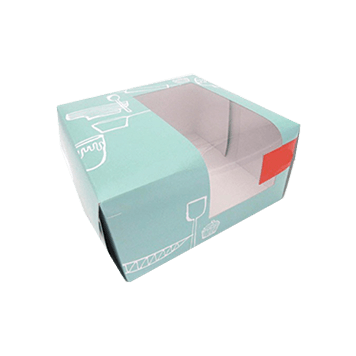 Custom Printed Window Cake Packaging Boxes