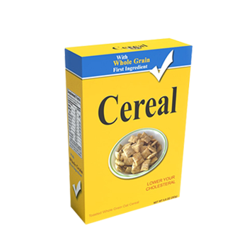 whole grain cereal boxes